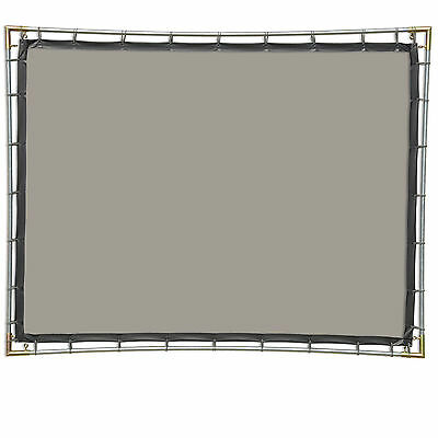 Carl's Rear Projection Film, 4:3, 6.75x9, Hanging Projector Screen Kit, Gray