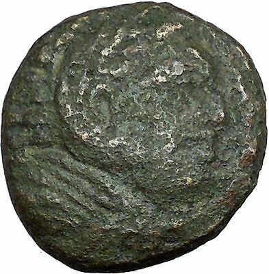 Alexander III the Great 336BC Ancient Greek Coin Hercules Bow Club  i33725