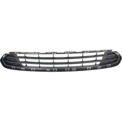 Bumper Grille For 2010-2012 Ford Fusion Center Textured Gray Plastic CAPA