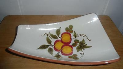 STANGL POTTERY APPLE DELIGHT FOOTED RELISH DISH