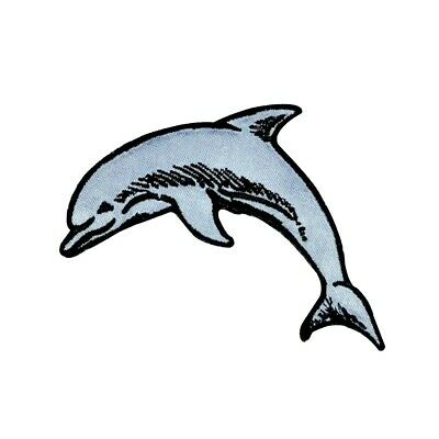Bottlenose Dolphin Patch Ocean Beach Marine Zoo Animal Craft Iron-On Applique