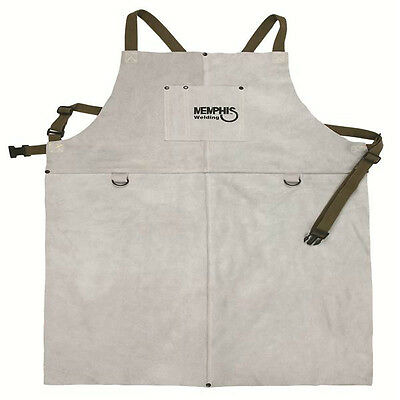38136MW Memphis Welding Leather Bib Apron with Front Pocket 24in x 36in NEW