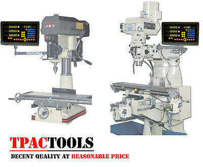 Dro 3 Axis Mill Lathe Package Linear Glass Scales New Free Shipping