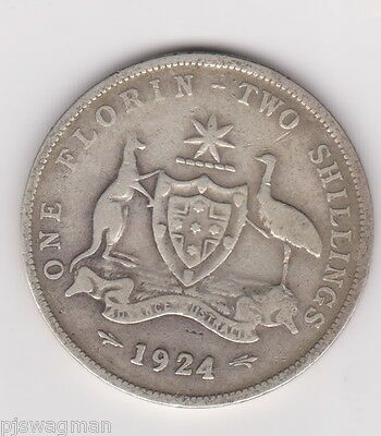 TWO BOB 1942 S Australian Silver TWO Shilling Florin KING GEORGE VI  Very Nice