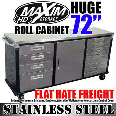 MAXIM HD 72 inch Stainless Steel Top Roll Cabinet PI242ES