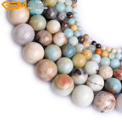 """Natural Gemstone Multicolor Amazonite Stone Loose Beads For Jewelry Making 15"""""""