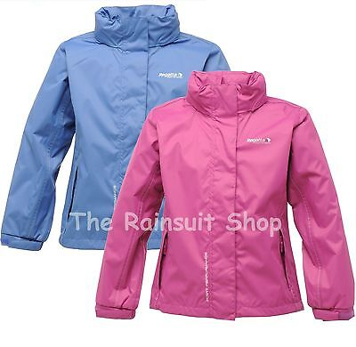 Regatta Jodi Waterproof Girls Breathable Rain Coat Jacket Age 3-10Yrs