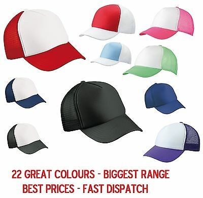 3 x MB TRUCKER CAP  22 GREAT COLOURS HALF MESH SNAPBACK HAT FASHION - WHOLESALE!