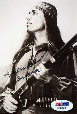 """MICHAEL ANSARA Hand Signed Photo as """"Cochise"""" - PSA/DNA - UACC #RD289"""
