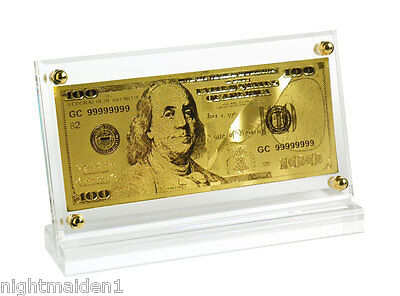Gift Ware/Collectable USA Replica 24ct Gold $100 Note