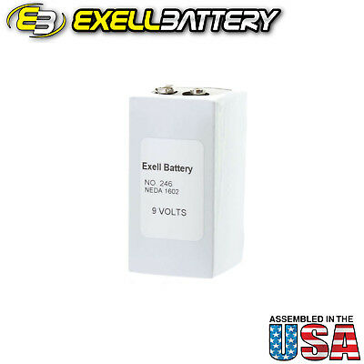 Exell 246 Alkaline 9V Battery NEDA 1602, PP6,TR6 Replaces Eveready 246