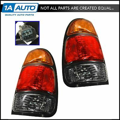 Taillights Taillamps Rear Brake Lights Pair Set for 00-04 Tundra Pickup Truck
