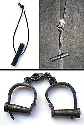 Darby Authentic Handcuffs  Real 50 to 75 years old  Includes our ESCAPE TOOL