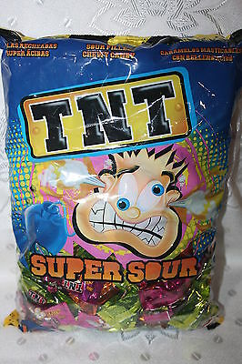 TNT SUPER SOUR Mixed Flavours Filled Chewy Candy 1kg bulk bag
