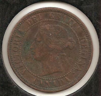 1886, Obverse 1, FINE-VERY FINE Canadian Large Cent #1 (corrosion)