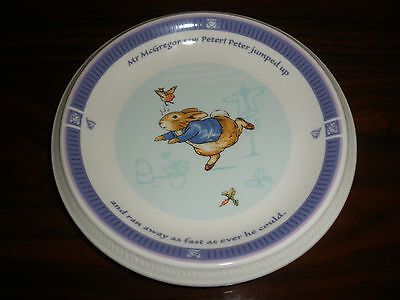 WEDGWOOD PETER RABBIT FREDERICK WARNE & CO. 2001 BLUE BAND CHILD PLATE
