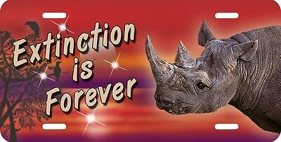 Rhino Rhinoceros Reds License Plate Personalize Gifts Ladies Men Jungle Exotic