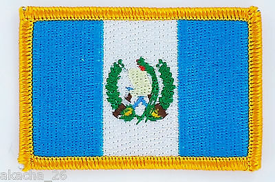 Patch Ecusson Brode Drapeau Guatemala  Insigne Thermocollant Neuf Flag Patche