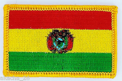 Patch Ecusson Brode Drapeau Bolivie Insigne Thermocollant Neuf Flag Patche