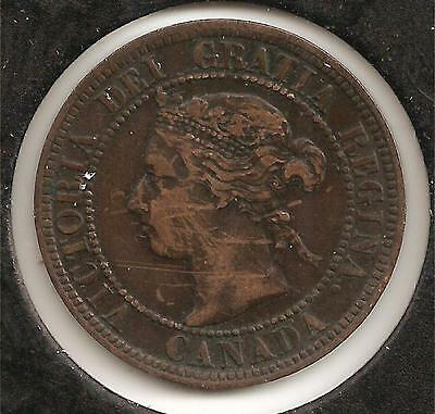 1896 EXTREMELY FINE Canadian Large Cent #5