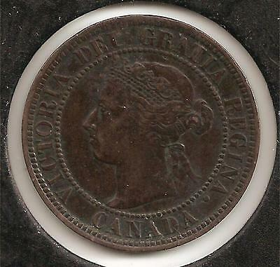 1900 VERY FINE-EXTREMELY FINE Canadian Large Cent #1 (corrosion reverse)