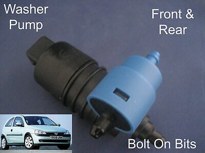 Front /& Rear Windscreen Washer Pump Vauxhall Corsa 3//5Dr 2000 through to 2005