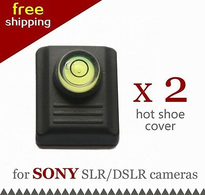 2 x Hot Shoe Cover Cap Protector with Spirit Level for Sony Minolta DSLR Camera
