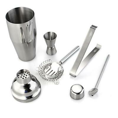 Set 5 Stainless Steel Cocktail 750ml Shaker Mixer Bar Drink