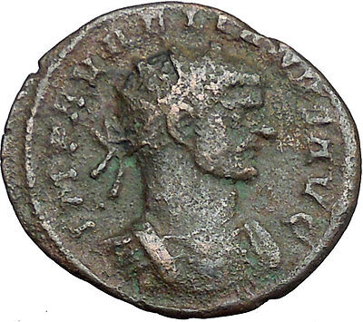 AURELIAN receiving globe from nude Jupiter 272AD  Ancient Roman Coin  i34066
