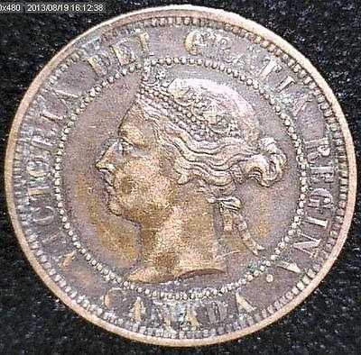 1887 Variety VF-XF Canadian Large Cent #1