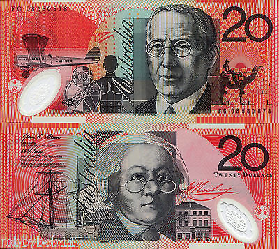 AUSTRALIA 20 Dollar Banknote World Paper Money UNC Currency Pick p59f Bill Note