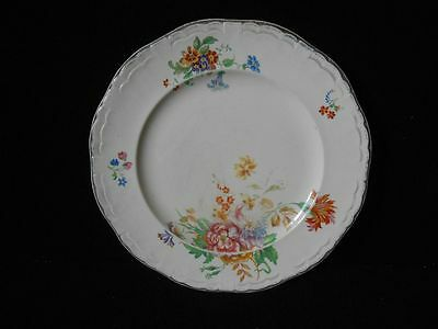 "Marquis Shape Marigold Alfred Meakin England EP Worth 18K 9"" Luncheon Plate"
