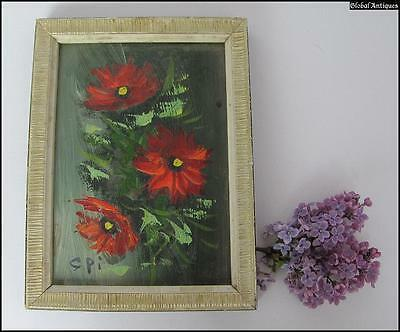 1970s VINTAGE FRAMED OIL PAINTING PICTURE - SIGNED