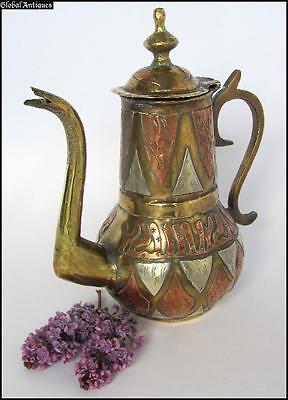 19C. Antique Massive Bronze Teapot Islamic Arabian Style