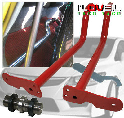 Volkswagen Vw Adjustable Interior Floor Bar Chassis Brace Beetle Jetta Red