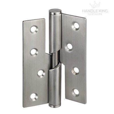 Satin Stainless Steel Internal Rising Butt Hinge Pairs (2)Left&Right 100mmx75mm