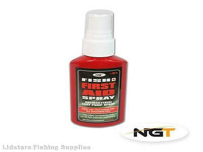 New NGT Fish Aid Spray Carp Coarse Fishing First Aid Antibacterial Spray 50ml