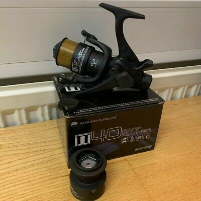 Ngt Ex40 4Bb Carp Fishing Free Runner Reel Twin Handle + 8Lb Line + Spare Spool