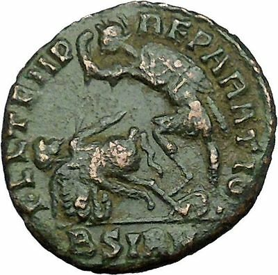 CONSTANTIUS II Constantine the Great  son  Sirmium  Roman Coin Horse man i34225