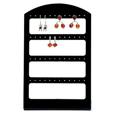Black Display Rack Stand Holder Organizer For 48 Pair Earring Stud Jewelry Show