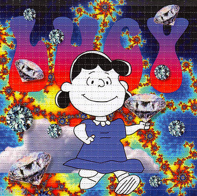 LUCY in the SKY with DIAMONDS  - perforated sheet BLOTTER ART psychedelic acid