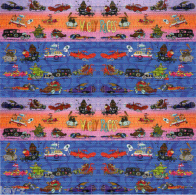 WACKY RACES perforated sheet BLOTTER ART psychedelic LSD Acid Art paper tabs