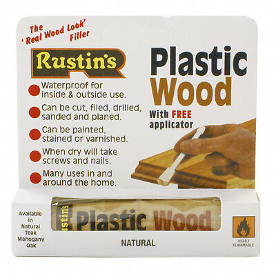 Rustins Plastic Wood Filler with Applicator choice of 4 colours 30g tube
