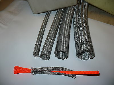 1/4  F6  PLATINUM GRAY color SPLIT BRAIDED SLEEVING (SPLIT LOOM)  TECHFLEX  10ft