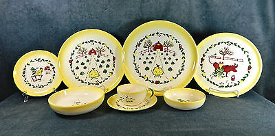 """68-PIECES (OR LESS) OF BROCK """"CALIFORNIA FARMHOUSE"""" PATTERN CHINA/DINNERWARE"""