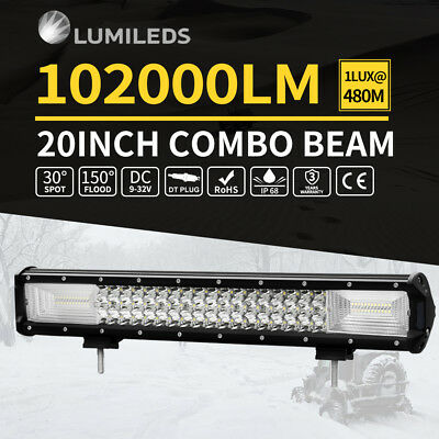 2x 6inch 42W CREE LED Light Bar Driving Combo Work Lamp Truck Offroad UTE 4WD