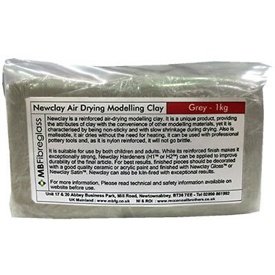 Newclay Grey 1Kg Reinforced Air Drying Model Clay