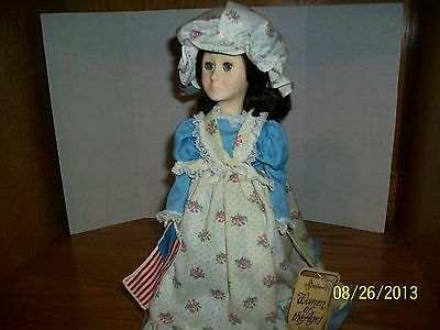 """Vintage Effanbee Betsy Ross"""" 12 inch Doll in mint condition"""