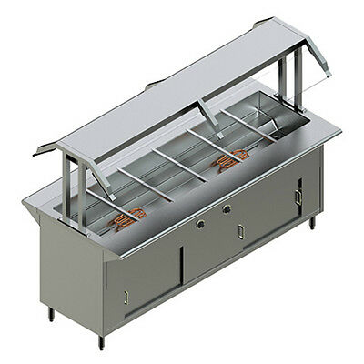 NEW RESTAURANT STAINLESS STEEL Electric Buffet Table MODEL PBTD-6E