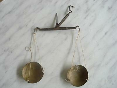 1850s ANTIQUE MEDICAL APOTHECARY BRONZE&IRON SCALE